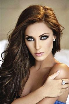 Anahi Gonzalez...  She's basically like the Mexican Megan Fox. She has the most beautiful eyes! I live how they pop with the smoky makeup <3