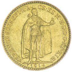 20 Korona 1914 KB mit Bosnienwappen Kaiserreich Franz Joseph I. 1848 - 1916