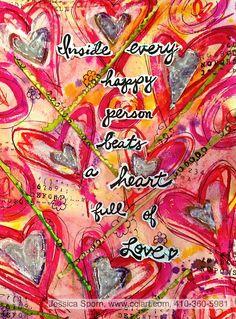 Jessica Sporn Designs: This I Believe Art Journal Pages, Art Journaling, Heart Journal, Art Journal Inspiration, Journal Ideas, Creative Outlet, Smash Book, Beautiful Artwork, Paper Crafts