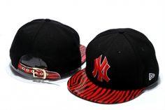 Casquette NY New York Yankees MLB Snakeshin Snapback Noir : Casquette Pas Cher