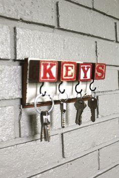 Red Block Key Rack