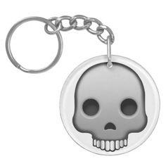 Skull Emoji Keychain