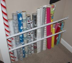 Like this idea of tension rods for kids closets (for sports equip, baseball bats, toy swords or even hula hoops) »  - GoodHousekeeping.com