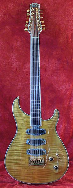 Giffin 1998 12-String Electric, Honduras Mahogany Body, Top & Back Eastern Hard Rock Maple, Brazillian Rosewood Fingerboard, 3x Velvet Hammer P.U.