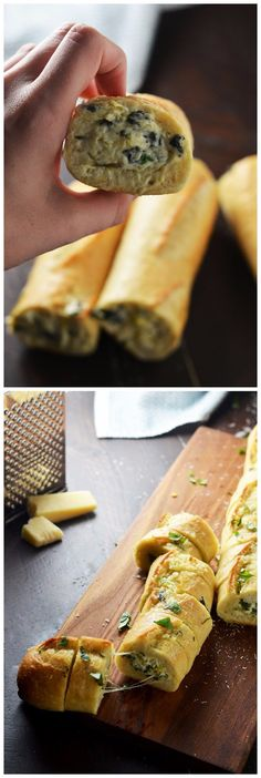 Spinach and Artichoke Dip Stuffed Garlic Bread Recipe