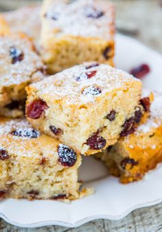 Cranberry White Chocolate Chip Bliss Cake - The flavors of Starbucks Cranberry Bliss Bars in a Soft, Easy, No-Mixer Cake!