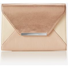 Express Bar Accent Envelope Clutch ($20) ❤ liked on Polyvore featuring bags, handbags, clutches, purses, blush, genuine leather handbags, handbags purses, beige envelope clutch, faux leather handbags and leather handbags