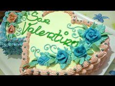 Torta di San Valentino decorata con panna by ItalianCakes - YouTube