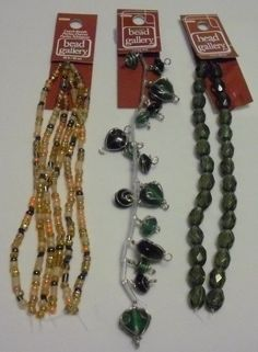 BEAD GALLERY BEADS LOT OF 3 LOVELY BEAD STRANDS NEW LOT # 2 #BeadGallery