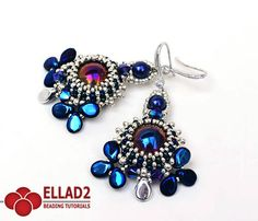 *P Beading Tutorial for Aylen Earrings with pip and dome beads is very detailed, easy to follow, step by step with color photos of each step.