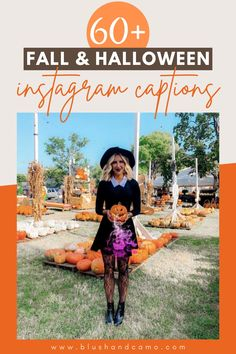 Fall is my FAVORITE time of year! And can I say how excited I am for Halloween? I just love all the cute captions for Instagram I've seen so I compiled a list of my favorites! I'm sure you'll love them too! Come take a look! #fallfavorites #halloweeninspired #instagramcaptions #halloween #fallvibes