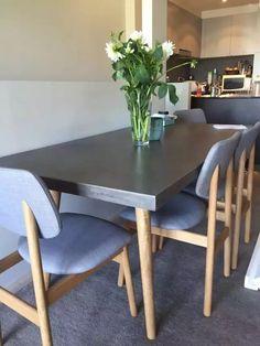 水泥餐桌+实木腿!
