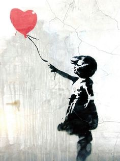 She's the girl with the red balloon.