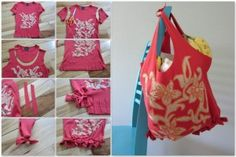 10 Minute Cloth bag ( NO sewing needed!) - Perfect for the farmers market!!