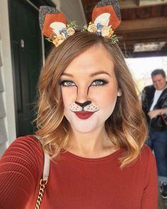 Fox makeup for Halloween www.bunnyfreebeautyblog.com