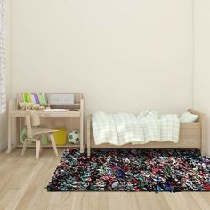 Kids love rugs too! Purchase the interior area rug for their bedroom and they will never have cold feet again ! ;p
