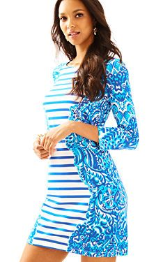 e93189b2d6 Lilly Pulitzer Nila Dress, Brilliant Blue Moon Jellies Stripe Eng Dress  Lilly Pulitzer Prints,