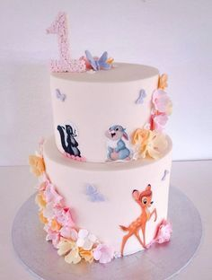 Bambi birthday cake by Niknaks Sweetest Treats