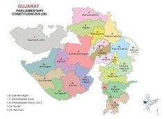 Gujarat Lok Sabha 2014 Election Constituency Map