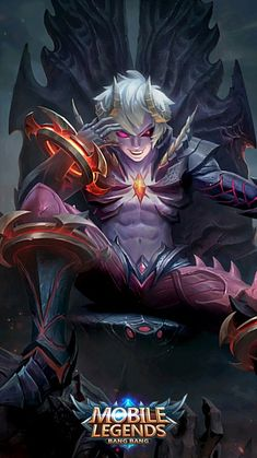 Dyrroth-Prince Of The Abyss Mobile Wallpaper Android, Mobile Legend Wallpaper, Hero Wallpaper, Computer Wallpaper, Hero Fighter, Miya Mobile Legends, Alucard Mobile Legends, Moba Legends, Anime Demon Boy