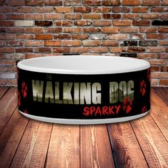 The Walking Dog Personalized Pet Bowls  The by funtoseegifts