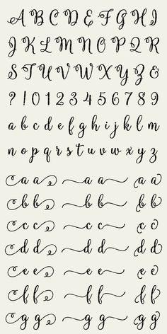 Calligraphy Fonts Alphabet, Cursive Alphabet, Hand Lettering Alphabet, Fancy Fonts Alphabet, Letter Fonts, Easy Caligraphy, Cute Handwriting Fonts, Graffiti Alphabet, Islamic Calligraphy