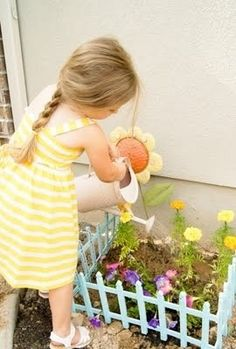 Find fence at  $ store and you child has his or her own garden to take care of.