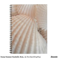 Sunny Summer Seashells. Romantic, Exotic Tropical Spiral Notebook