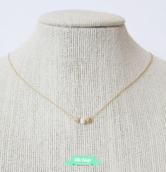 MAKE A WISH Necklace  Delicate Gold filled by LittleThingsByTCY, $27.00  beaded necklace