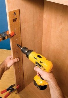 Tips for Installing Shelf Supports by Seth Keller Drilling shelf-support holes is not difficult, but you only get one chance to get it right. If you make a mistake, you'll get holes that don't line up and shelves that rock or are way out of level. Here are some tips to remove the guesswork from drilling the shelf-support holes and to improve your accuracy. I've also included some tips on …