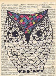 Owlbird.avian.Antique Book