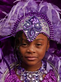 Junior Carnival 2011, Caribbean Girl In A Purple Headdress