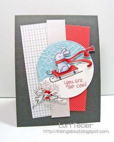lawn fawn winter bunny card - Google Search