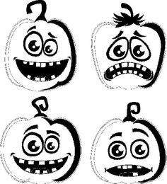 Dibujos de calabazas de Halloween para colorear - printable pumpkin