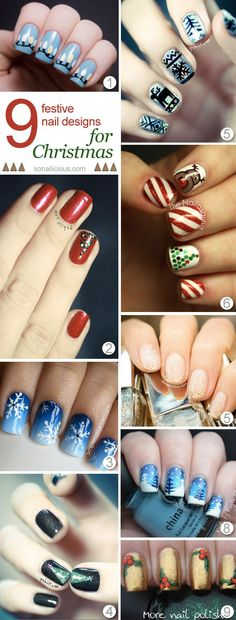 9 Best Christmas Nails to try. #christmasnails #Daysfullofboredness