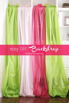These 25 DIY backdrop ideas for Photography would rock and will help you shoot the best photos of your life! Here all these lovely loving backdrops for Photography are purely handmade Picture Backdrops, Diy Photo Backdrop, Backdrop Ideas, Easter Backdrops, Backdrops For Parties, Diy Fotokabine, Easy Diy, Diy Crafts, Simple Diy