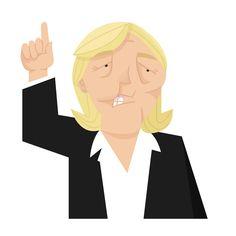 Politician caricatures - Marine Le Pen http://keuj.net/portfolio