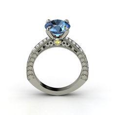 """The Megan Ring #customizable #jewelry #sapphire #topaz #ring  {OF COURSE THE """"MEGAN"""" RING IS GORGEOUS! What did you expect? ;-) }"""