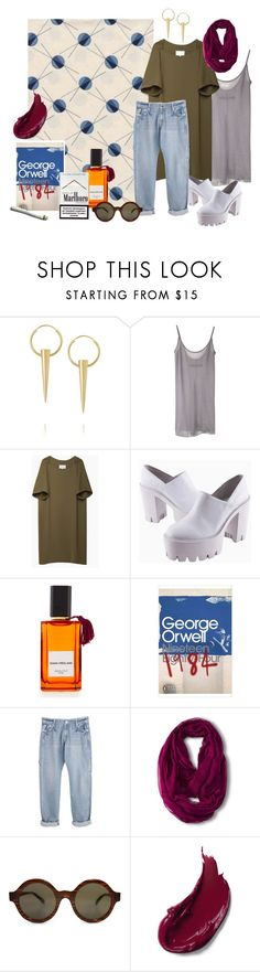 """Untitled #182"" by krystelles ❤ liked on Polyvore featuring Wendy Nichol, Enza Costa, Maison Margiela, Diana Vreeland, nineteen, Merona and Illesteva"