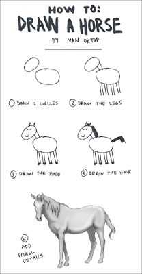 Funny Pics: How To Draw a Horse In 5 Easy Steps