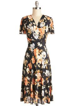 One Floral, All for One Dress. You knew at once that this floral dress was one for the history books! #multi #modcloth