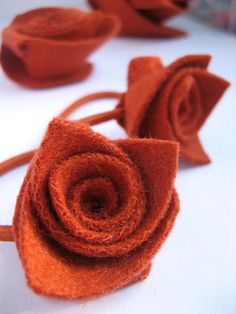 Small flower ponytail bands set of 2 soft upcycled by theRemakerie