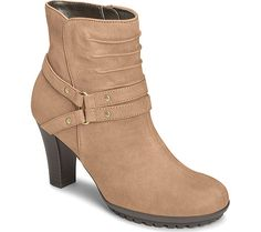 Aerosoles Ment To Be Ankle Boot - Taupe Leather