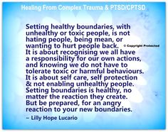 Healing From Complex Trauma & PTSDCPTSD Setting Healthy Boundaries With Unhealthy or Toxic People Is Not Hating People Being Mean or Wanting to Hurt People Back O Copyright Protected It Is About Recognising We All Have a Responsibility for Our Own Actions Mean People, Hate People, Toxic People, Controlling People, Helping People, Narcissistic Personality Disorder, Narcissistic Abuse, Emotional Abuse, Emotional Intelligence