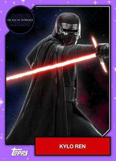 Star Wars – The Rise of Skywalker – Official Topps Trading Cards – Kylo Ren Finn Star Wars, Star Wars Kylo Ren, Rey Star Wars, Star Wars Art, Star Trek, Star Wars Helmet, Knights Of Ren, Star Wars Merchandise, Star Wars Wallpaper