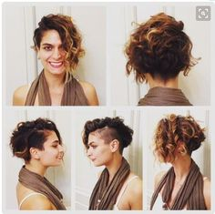 Latest Short Curly Hairstyles 20 Latest Short Curly Hairstyles: Curly Bob with Latest Short Curly Hairstyles: Curly Bob with Undercut; Haircuts For Curly Hair, Curly Hair Cuts, Short Hair Cuts, Curly Hair Styles, Curly Short, Curly Asymmetrical Bob, Pixie Haircuts, Curly Undercut, Undercut Hairstyles