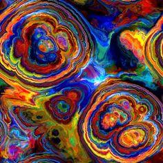 Artisan Abstract Sateen Cotton Textile Art Made Fabric Fiber