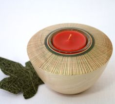 Wooden Cosmic Candle Holder   WoodExpressions - Woodworking on ArtFire