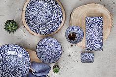Teller Karakusa Blue 23 x 11,5 cm