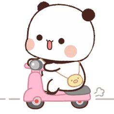 Cute Panda Cartoon, Cute Cartoon Pictures, Cute Images, Cute Bear Drawings, Cute Kawaii Drawings, Chibi Cat, Cute Chibi, Chibi Panda, Cute Panda Wallpaper